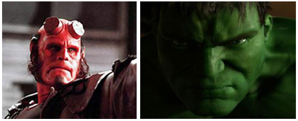 Tráilers en castellano de The Incredible Hulk y Hellboy 2