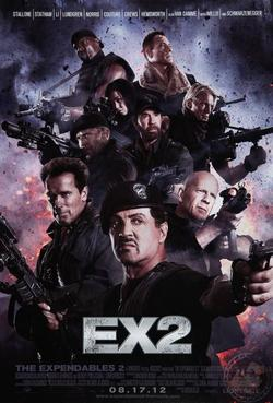 Cartel en conjunto de The Expendables 2