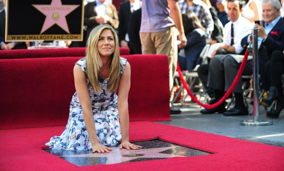 Jennifer Aniston toda una estrella en Hollywood