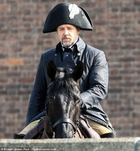 En el set de 'Los miserables' con Russell Crowe