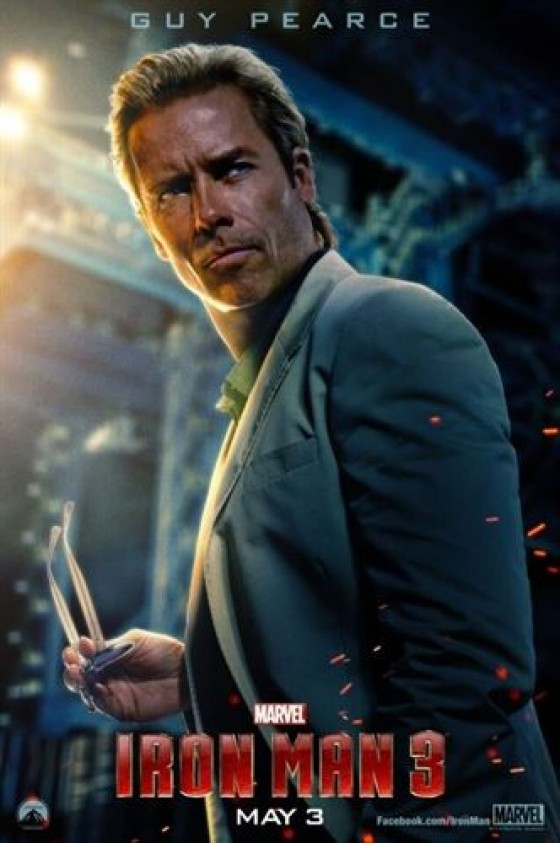 Nuevo cartel de Guy Pearce en Iron Man 3