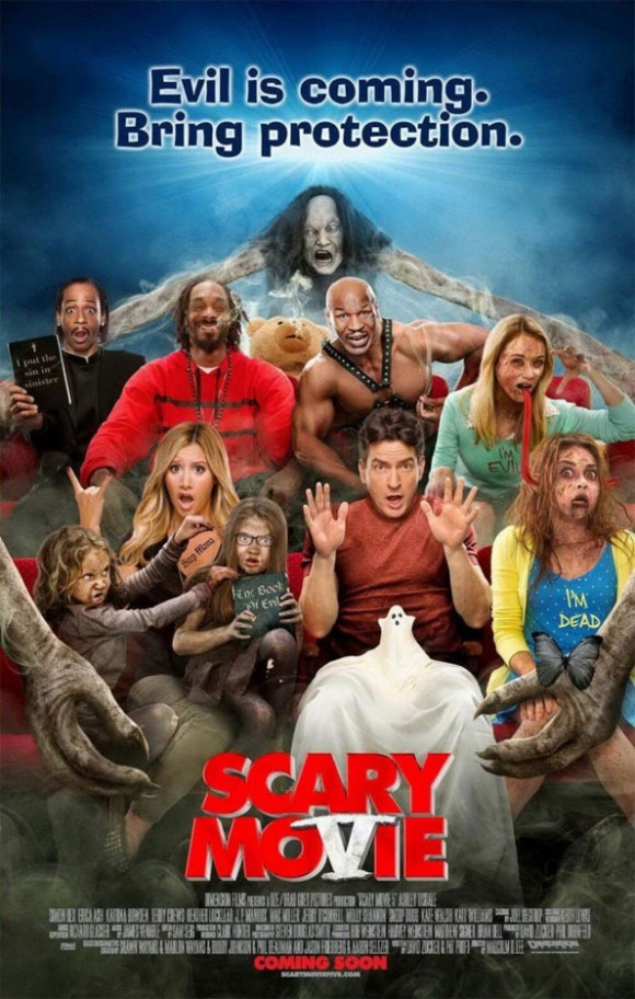 Cartel de Scary Movie 5 con Charlie Sheen